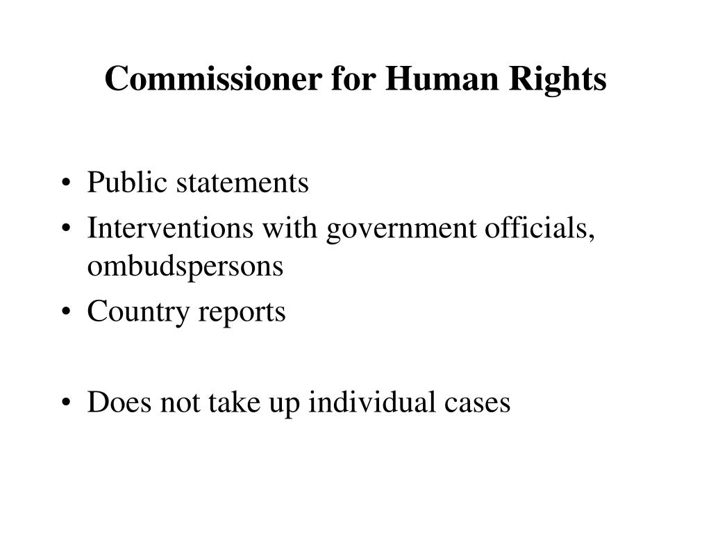 Commissioner for Human Rights