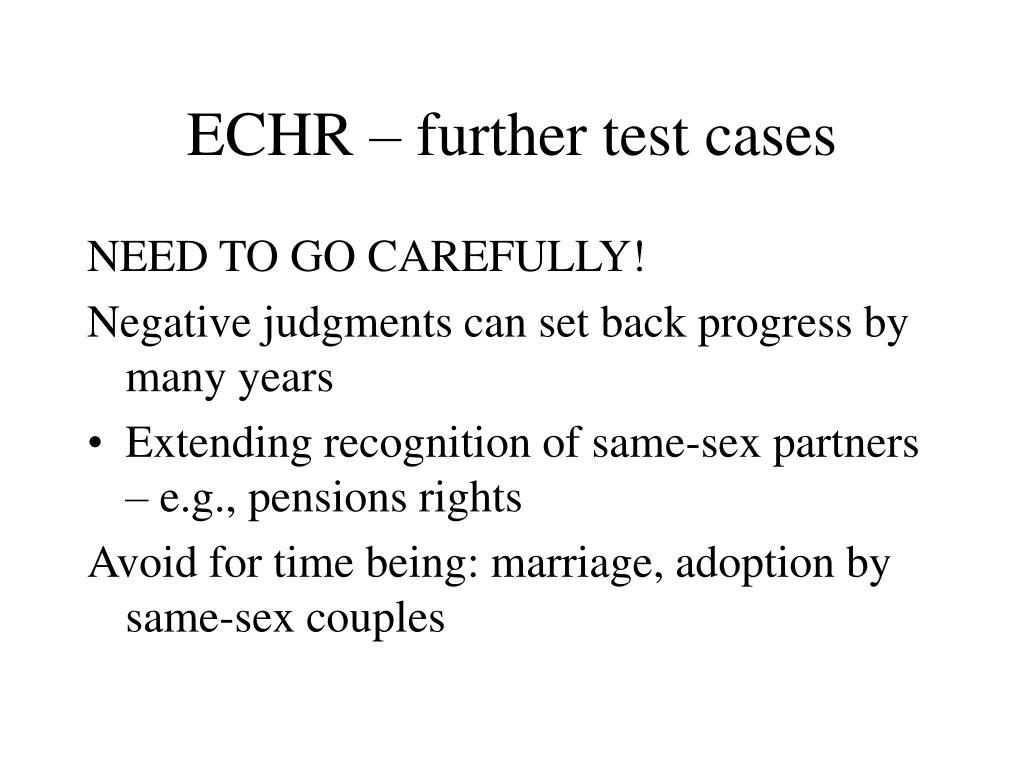 ECHR – further test cases