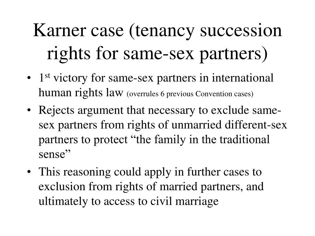 Karner case (tenancy succession rights for same-sex partners)