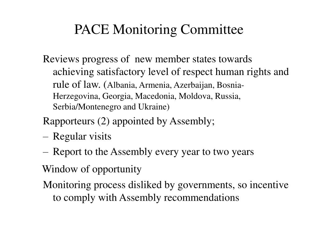 PACE Monitoring Committee