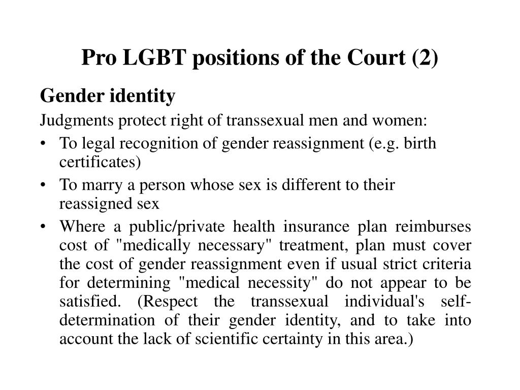 Pro LGBT positions of the Court (2)