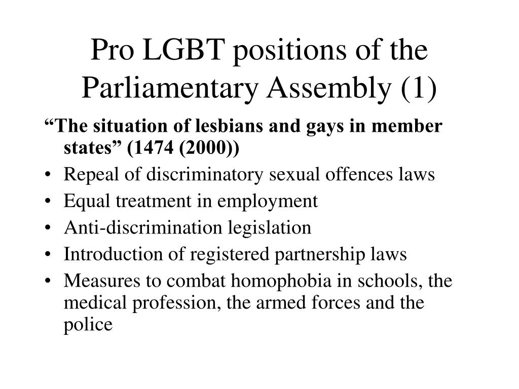 Pro LGBT positions of the Parliamentary Assembly (1)