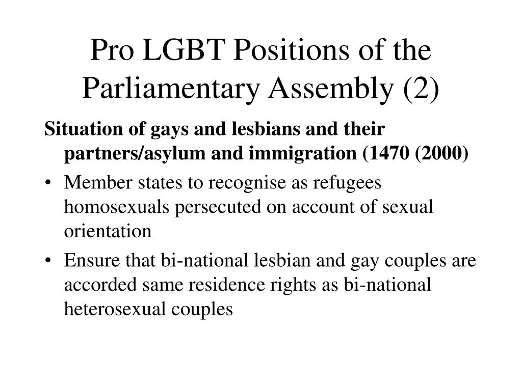 Pro LGBT Positions of the Parliamentary Assembly (2)