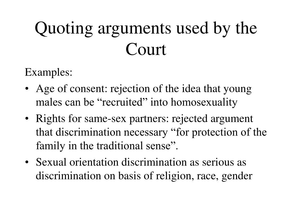 Quoting arguments used by the Court