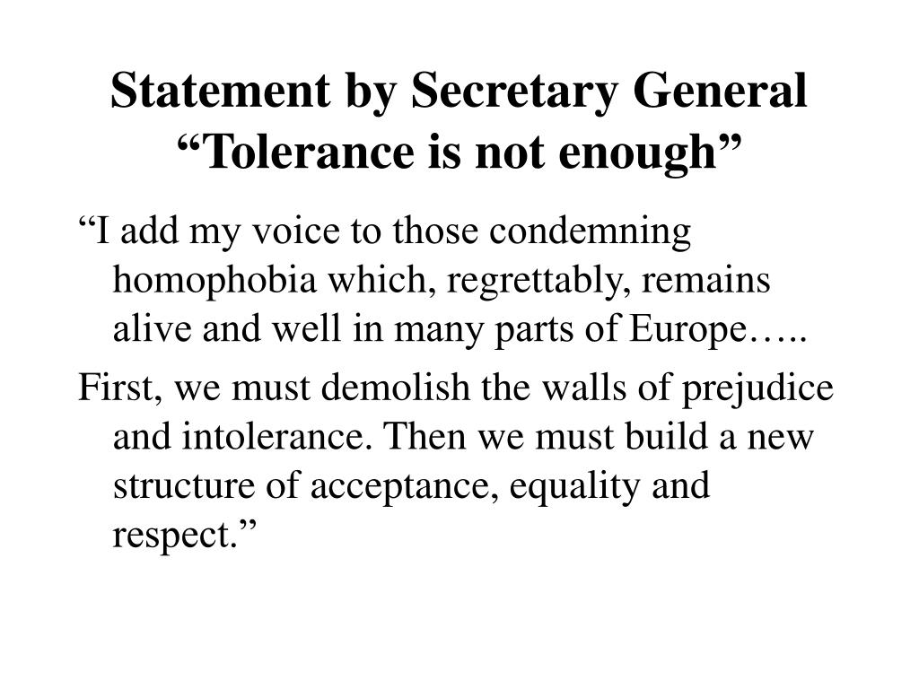 Statement by Secretary General