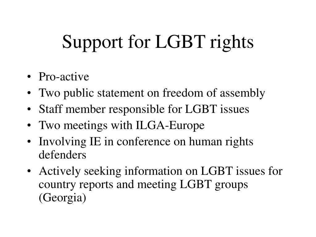 Support for LGBT rights