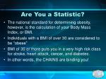 are you a statistic