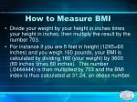 how to measure bmi