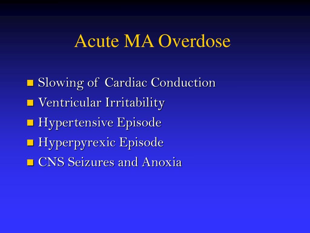 Acute MA Overdose