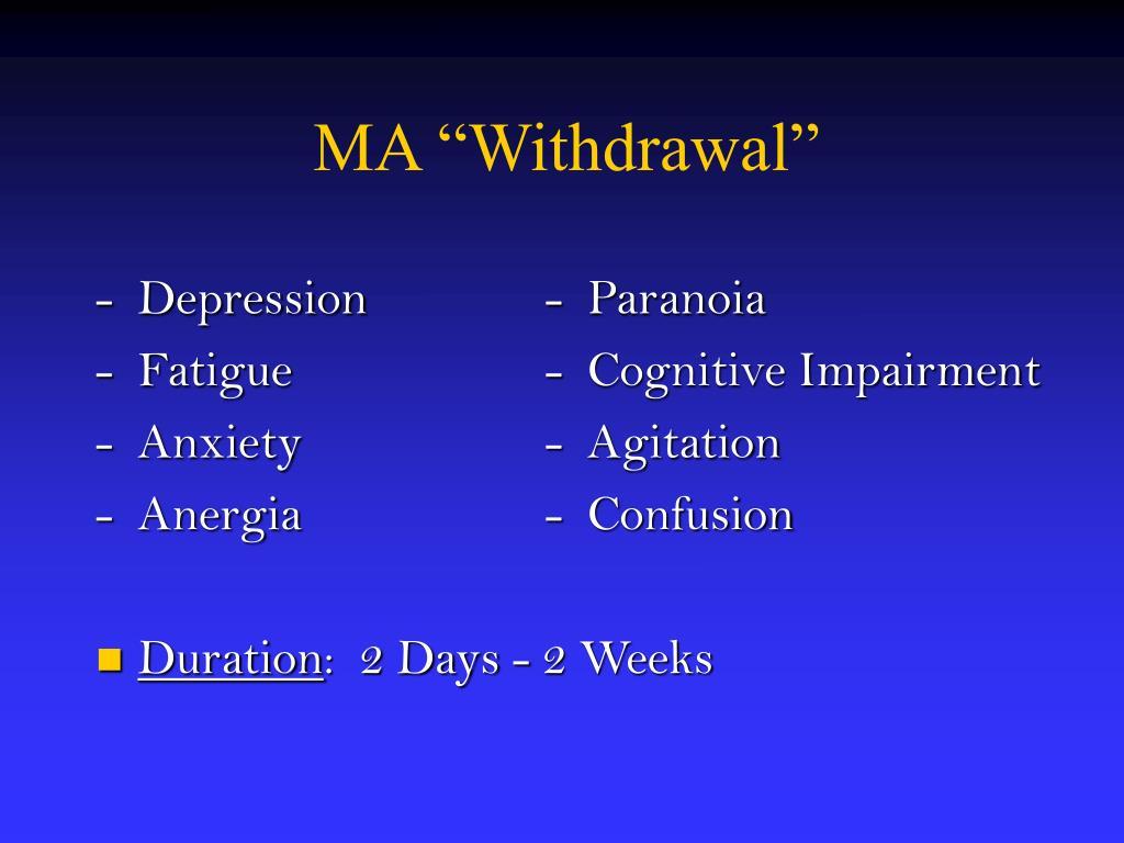 """MA """"Withdrawal"""""""