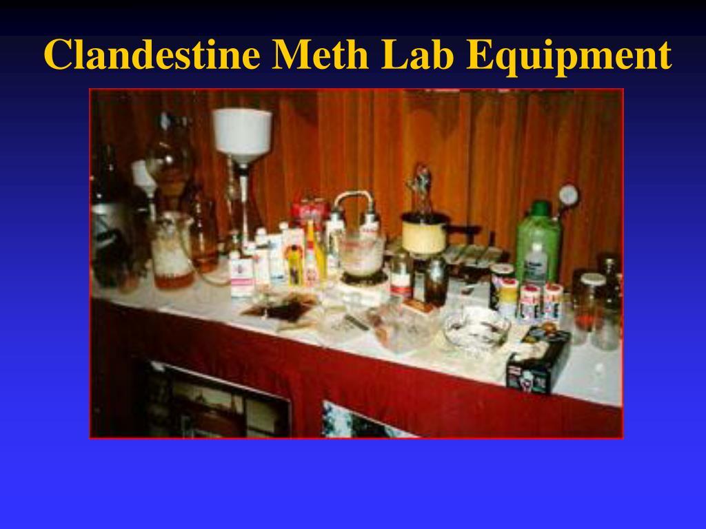 Clandestine Meth Lab Equipment