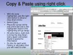 copy paste using right click