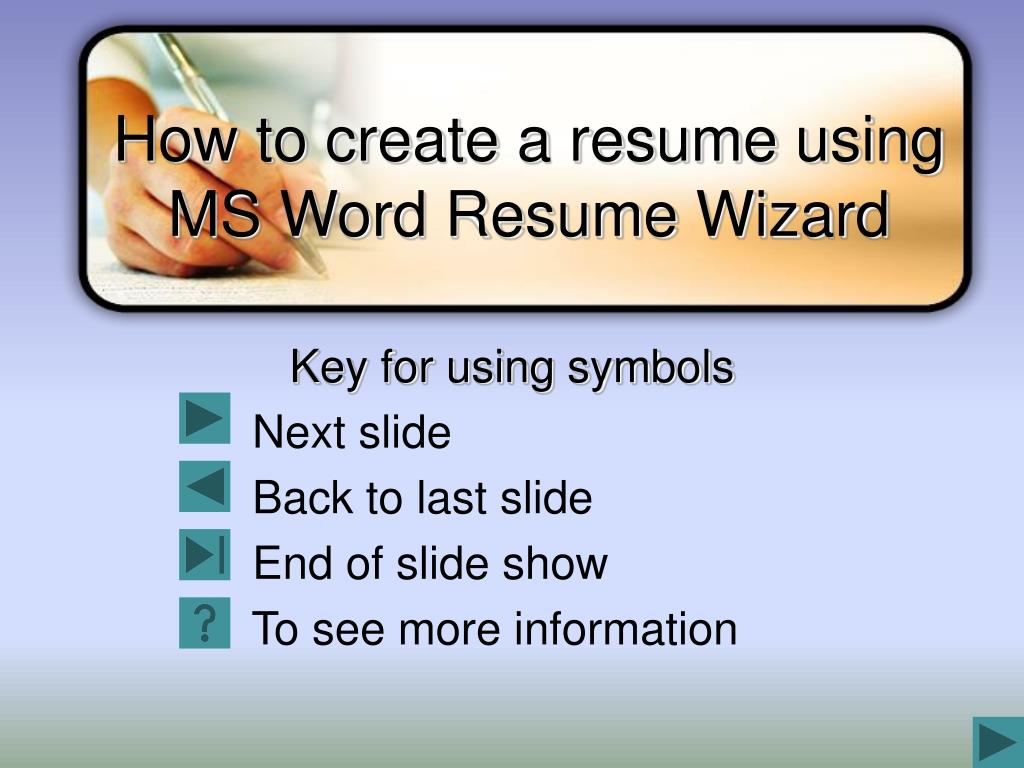 how to create a resume using ms word resume wizard l.