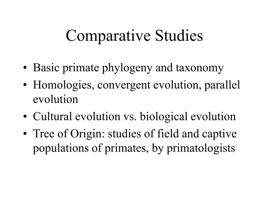 a comparative study of the field