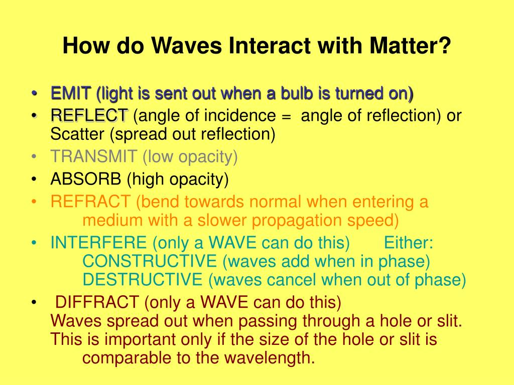 How do Waves Interact with Matter?