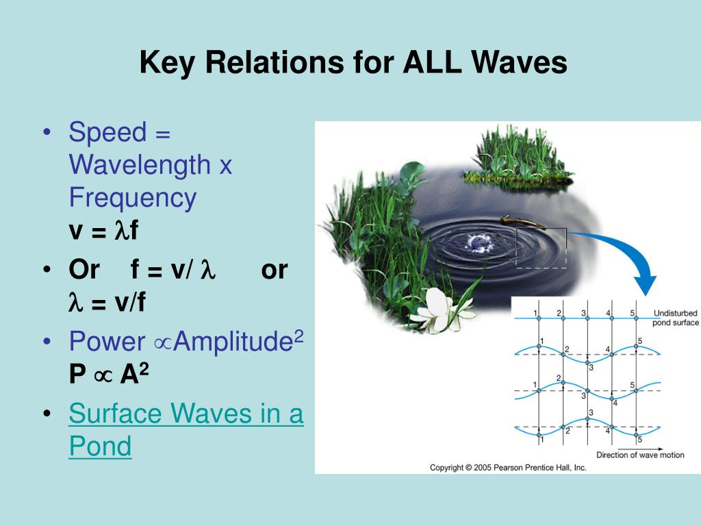 Key Relations for ALL Waves