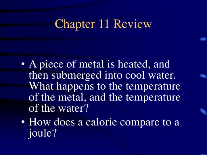Chapter 11 Review