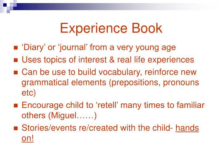 Experience Book