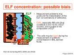 elf concentration possible biais