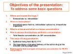 objectives of the presentation to address some basic questions