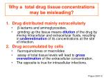 why a total drug tissue concentrations may be misleading