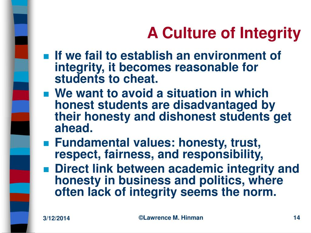 A Culture of Integrity