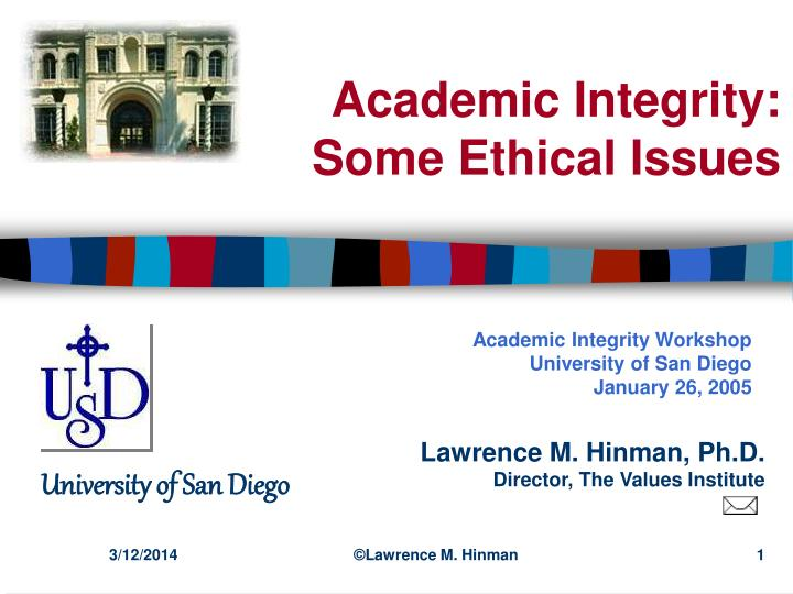 Academic integrity some ethical issues