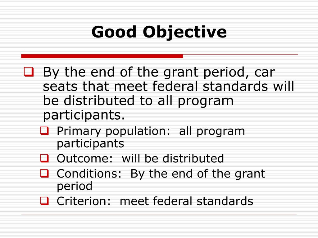 Good Objective