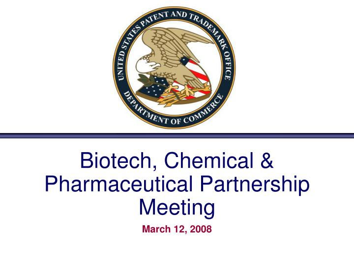 Biotech chemical pharmaceutical partnership meeting