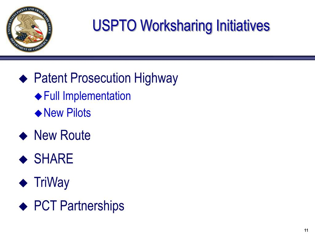 USPTO Worksharing Initiatives