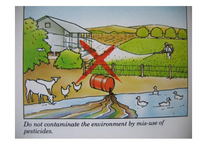 Unintended pesticide impacts
