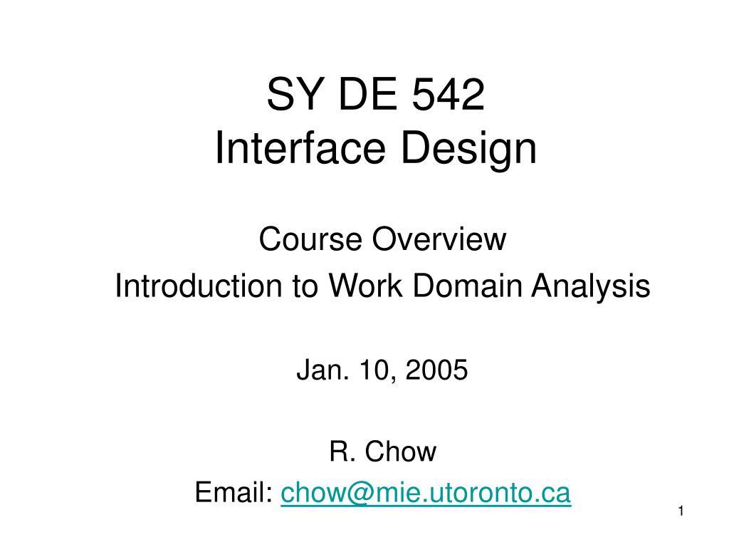 sy de 542 interface design l.