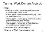 task vs work domain analysis