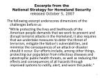 excerpts from the national strategy for homeland security released october 5 2007