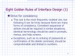 eight golden rules of interface design 1