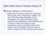 eight golden rules of interface design 4