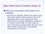 eight golden rules of interface design 5