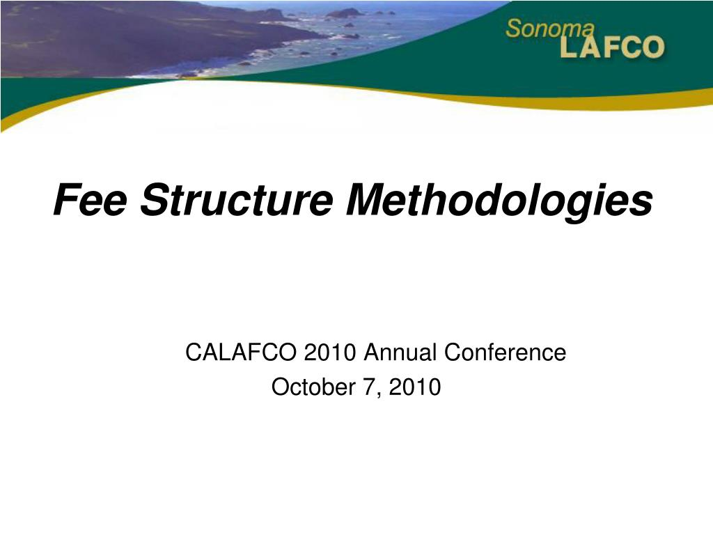 fee structure methodologies