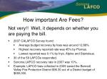 how important are fees