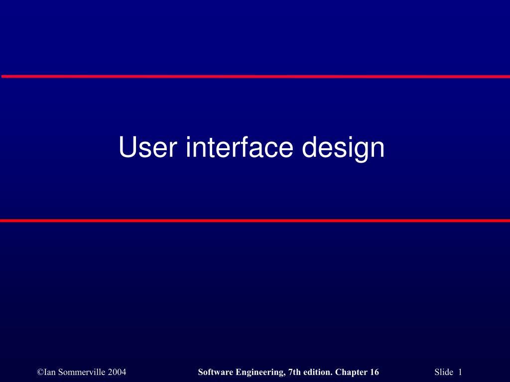 user interface design l.