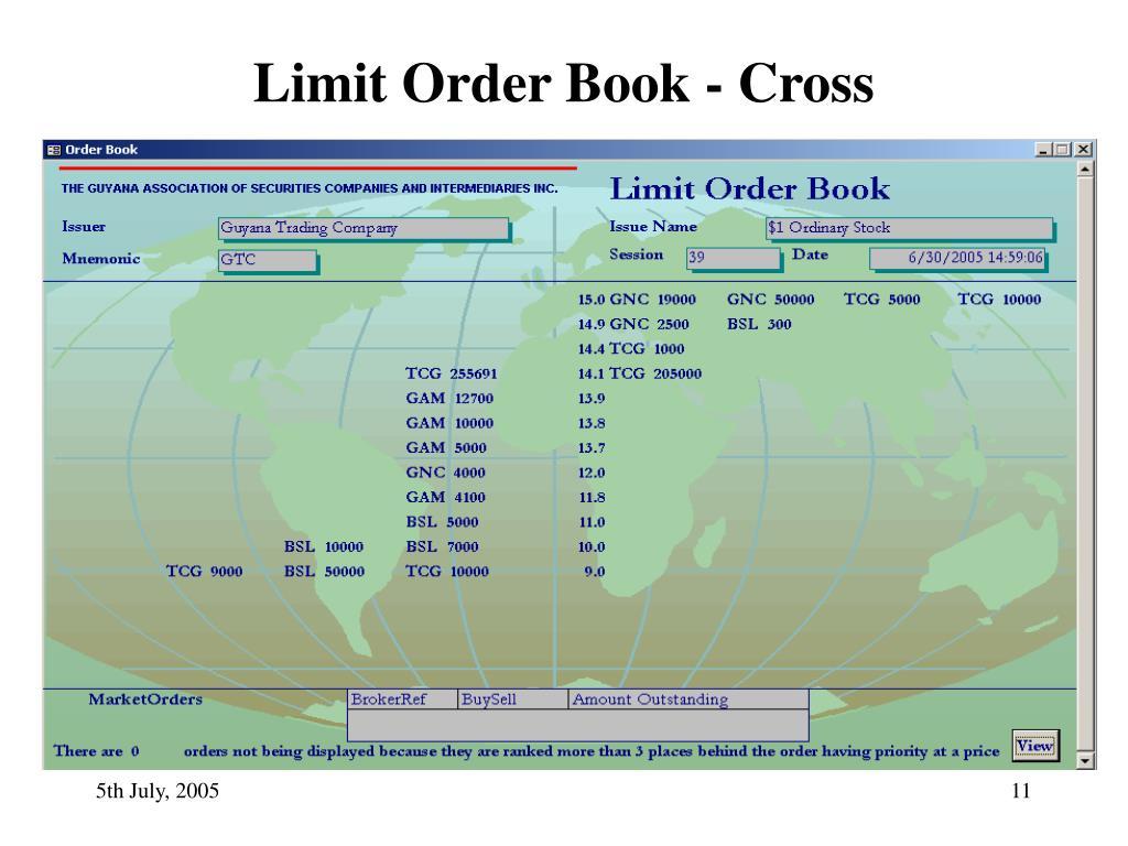 Limit Order Book - Cross