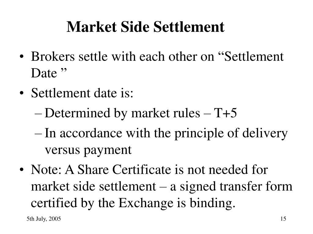 Market Side Settlement