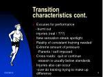 transition characteristics cont