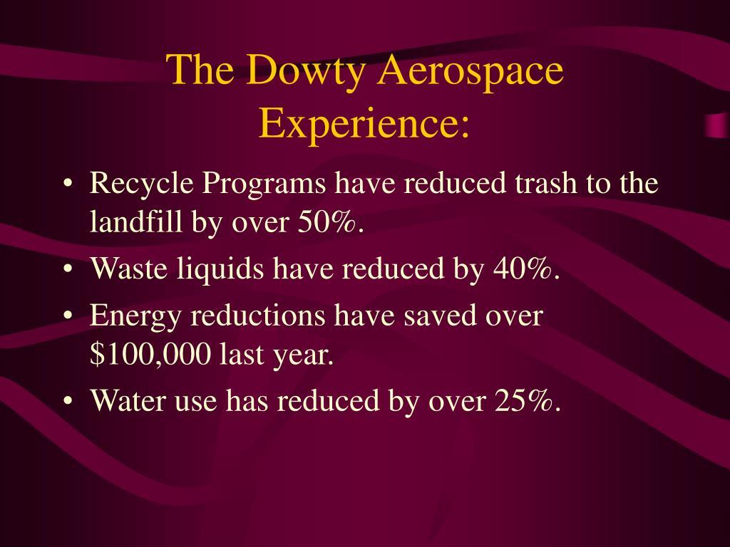The Dowty Aerospace Experience: