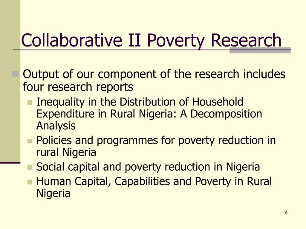 Collaborative II Poverty Research