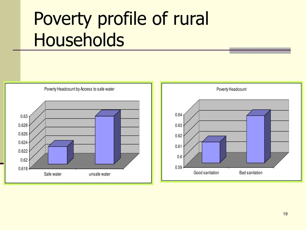 Poverty profile of rural Households