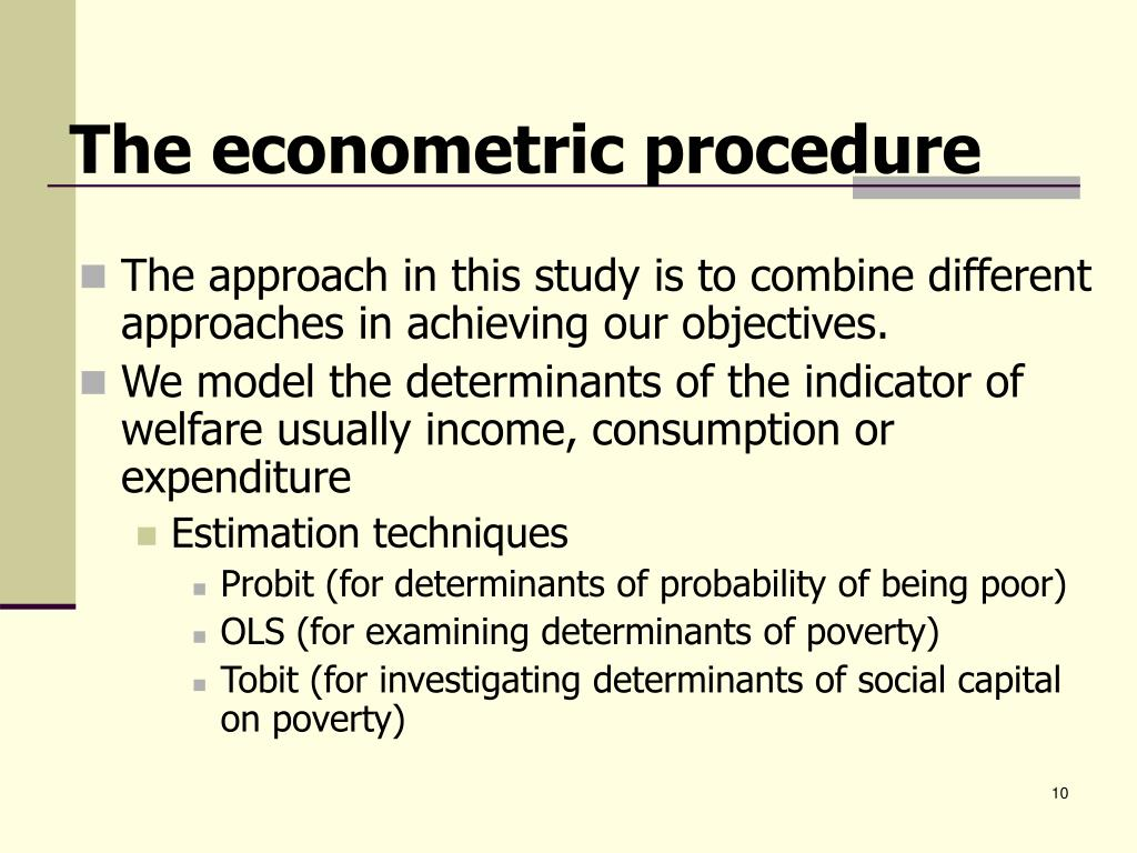 The econometric procedure