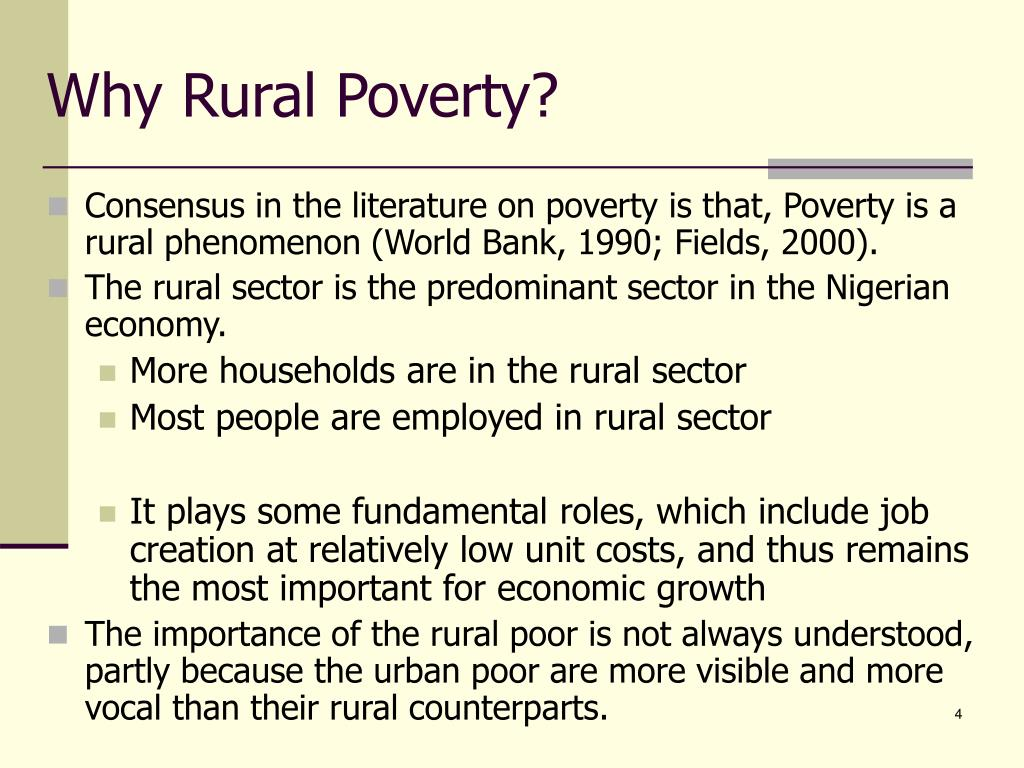 Why Rural Poverty?