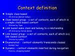 context definition