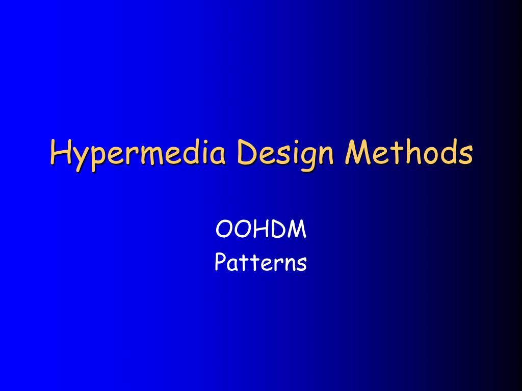 hypermedia design methods l.